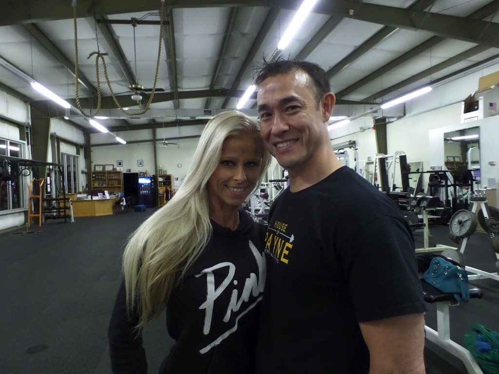 Trish Foster & Steve Payne at House of Payne Personal Training Competitor End-of-Season Pot Luck