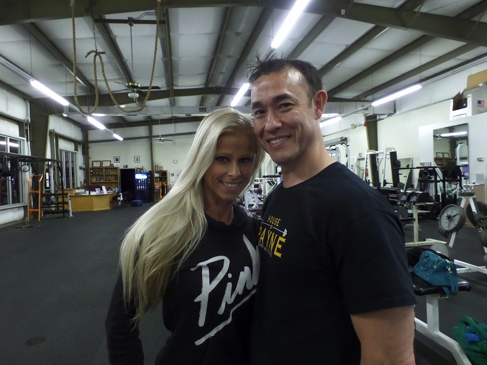 Trish foster steve payne at house of payne personal training competitor end of